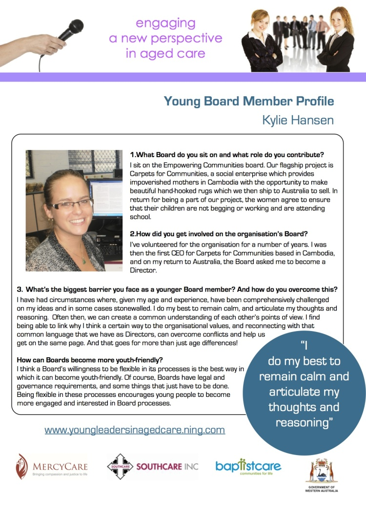 Resource 4 Spotlight KylieHansenYoungBoardMemberProfile